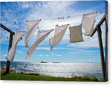 Star Island Clothesline Canvas Print