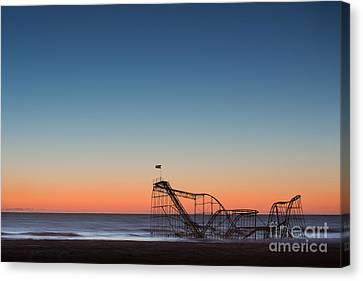 Star Jet Roller Coaster Hdr Canvas Print by Michael Ver Sprill
