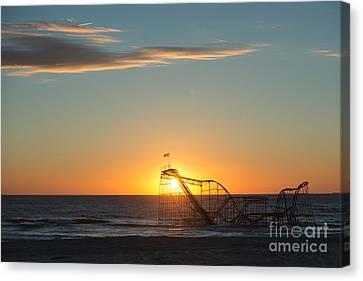 Star Jet Sunrise Silhouettte Canvas Print by Michael Ver Sprill