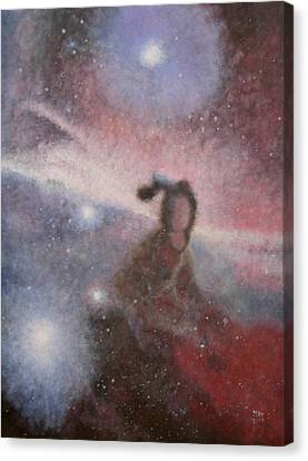Canvas Print featuring the painting Star Lady by Min Zou