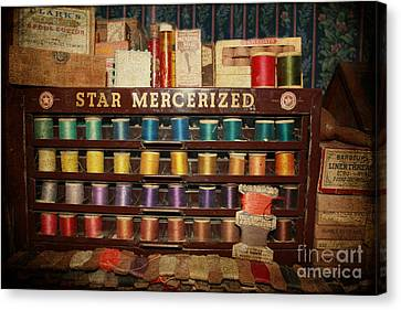 Star Mercerized Thread Display Canvas Print by Janice Rae Pariza
