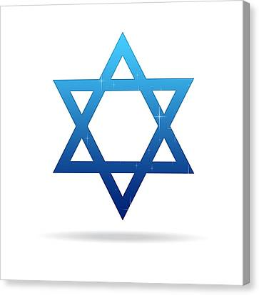 Star Of David Canvas Print by Aged Pixel