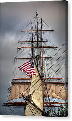 Star Of India Stars And Stripes Canvas Print by Peter Tellone