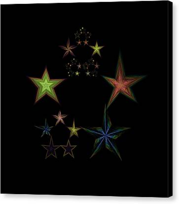 Star Of Stars 01 Canvas Print by Sora Neva