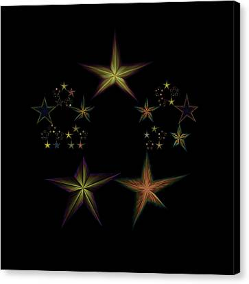 Star Of Stars 03 Canvas Print by Sora Neva