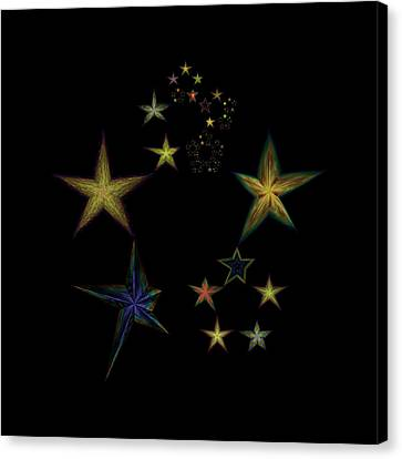Star Of Stars 05 Canvas Print by Sora Neva