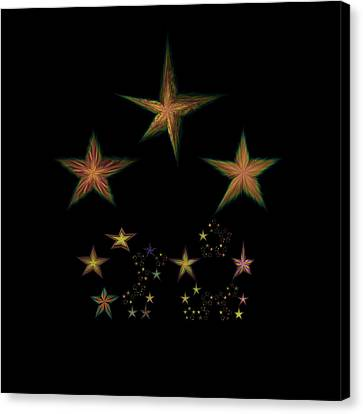 Star Of Stars 10 Canvas Print by Sora Neva