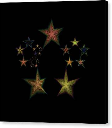 Star Of Stars 13 Canvas Print by Sora Neva