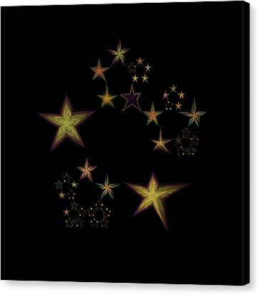 Star Of Stars 15 Canvas Print by Sora Neva
