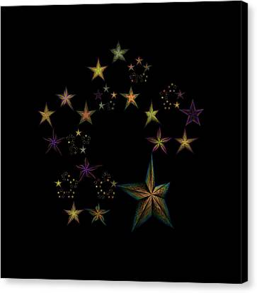 Star Of Stars 17 Canvas Print by Sora Neva