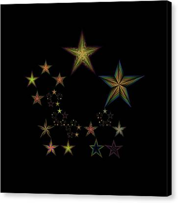 Star Of Stars 18 Canvas Print by Sora Neva