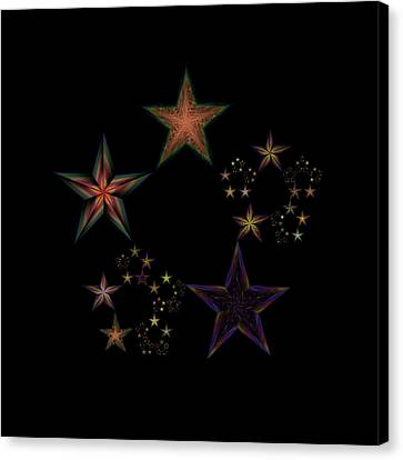Star Of Stars 19 Canvas Print by Sora Neva