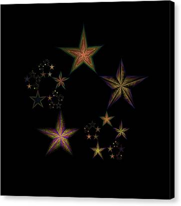 Star Of Stars 21 Canvas Print by Sora Neva
