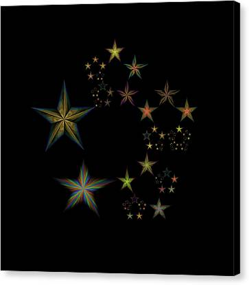 Star Of Stars 22 Canvas Print by Sora Neva