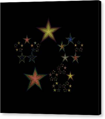 Star Of Stars 24 Canvas Print by Sora Neva