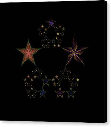 Star Of Stars 25 Canvas Print by Sora Neva