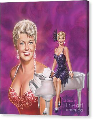 Star Of Stars - Doris Day Canvas Print by Dick Bobnick