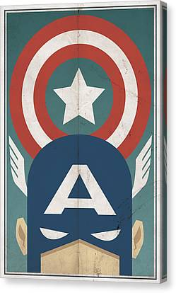Vintage Canvas Print - Star-spangled Avenger by Michael Myers