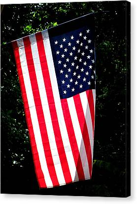 Canvas Print featuring the photograph Star Spangled Banner by Greg Simmons