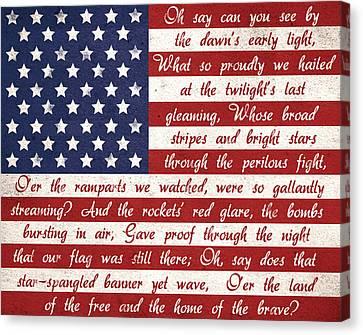 Star Spangled Flag Canvas Print by Anna Quach