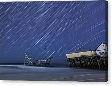 Jetstar Roller Coaster Canvas Print - Star Spangled by Mike Orso