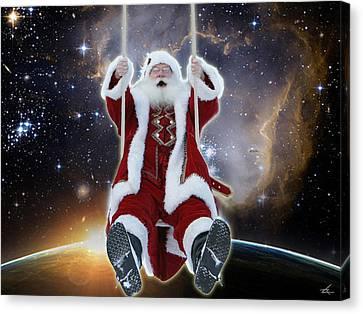 Santa's Star Swing Canvas Print