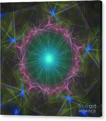 Canvas Print featuring the digital art Star System 7 by Ursula Freer