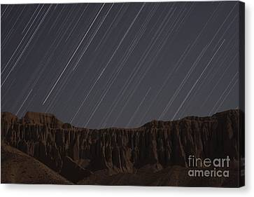 Star Trails Above Martians Valley Canvas Print by Amin Jamshidi