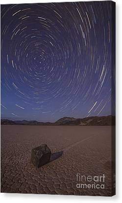 Star Trails At The Racetrack Playa Canvas Print