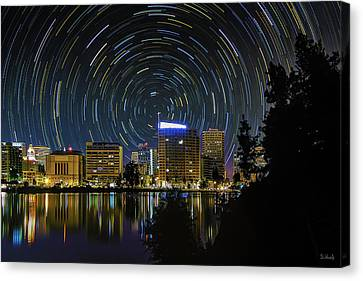 Star Trails Over Oakland Canvas Print