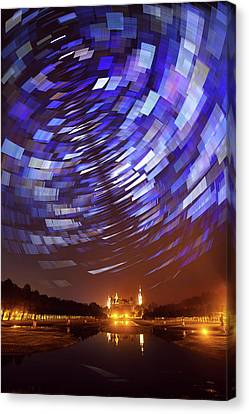Star Trails Over Schwerin Palace Canvas Print by Babak Tafreshi