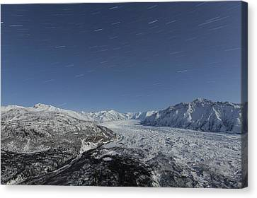 Matanuska Canvas Print - Star Trails Over The Matanuska Glacier by Tim Grams