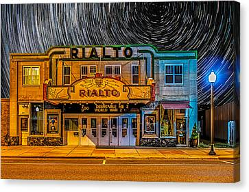 City Scape Canvas Print - Star Trails Over The Rialto by Paul Freidlund