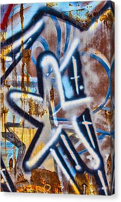 Bold Colors Canvas Print - Star Train Graffiti by Carol Leigh
