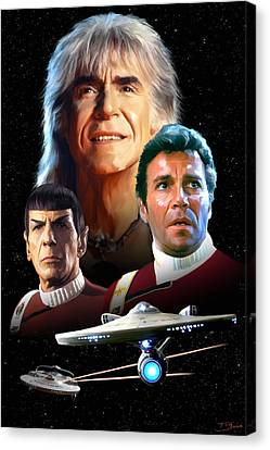Star Trek II - The Wrath Of Khan Canvas Print by Paul Tagliamonte