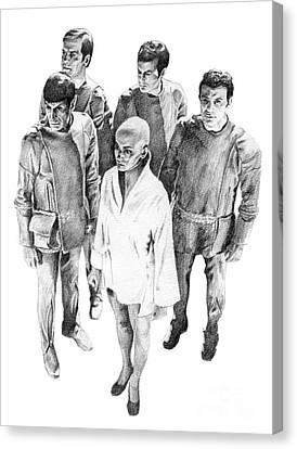 Star Trek - Meeting With V'ger Canvas Print by Liz Molnar