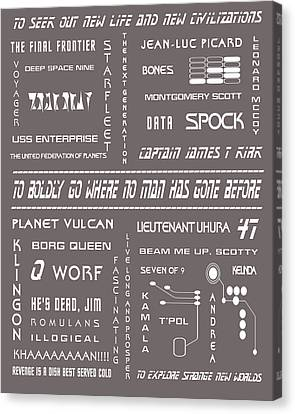 Star Trek Remembered In Grey Canvas Print