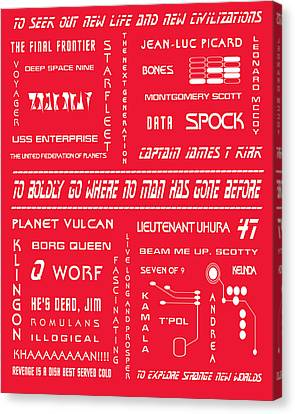 Star Trek Remembered In Red Canvas Print