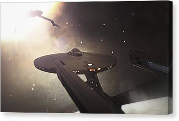 Star Trek Standoff Canvas Print by Jason Politte