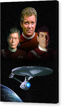 Star Trek - The Undiscovered Country Canvas Print by Paul Tagliamonte