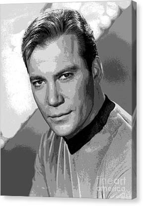 Star Trek William Shatner Pre 1970 Canvas Print by R Muirhead Art
