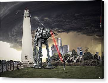 Canvas Print featuring the photograph Star Wars All Terrain Armored Transport by Nicholas  Grunas