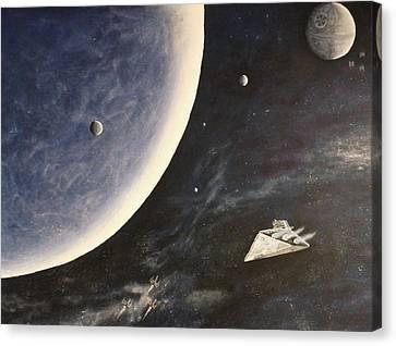 Star Wars Mural Canvas Print by Dan Wagner