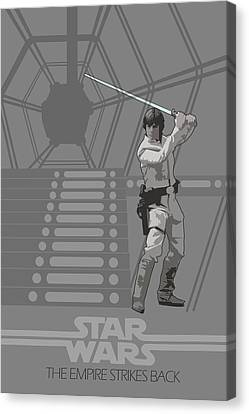 Star Wars Original Trilogy Ep 5 Canvas Print by Edgar Ascensao