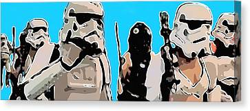 Star Wars Parade Canvas Print by Tommytechno Sweden