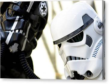 Star Wars Stormtrooper Closeup Canvas Print by Tommytechno Sweden