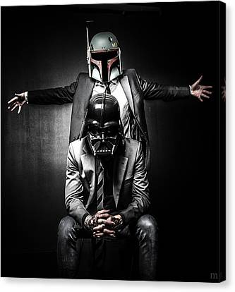 Stars Canvas Print - Star Wars Suit Up by Marino Flovent