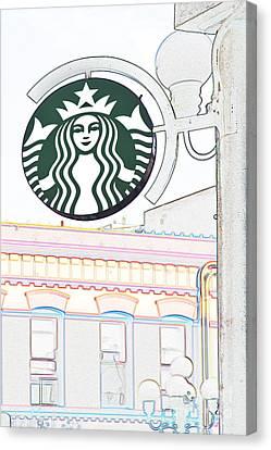 Starbucks Canvas Print by Liz Leyden