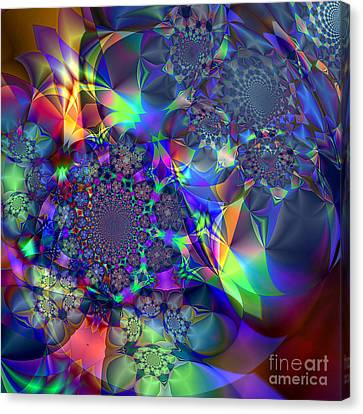 Canvas Print featuring the digital art Starcluster 1 by Ursula Freer