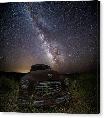 Stardust And Rust  Nash Motors Canvas Print by Aaron J Groen